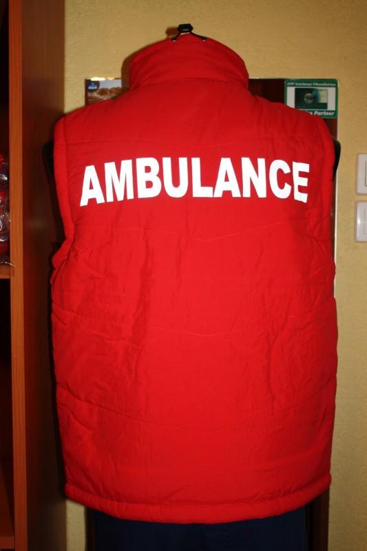 JuNo-BaLa Munkaruházat - Piros mellény Ambulance felirattal fc187b34de
