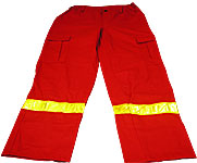 JuNo-BaLa Munkaruházat - Piros mentős hosszú nadrág neon csíkkal 9f3ad6b991